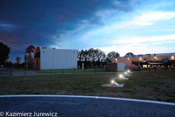 S4GA solar helipad lights at night