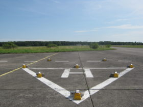 Solar helipad lighting
