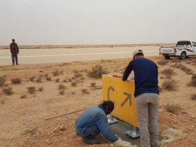 guidance signs Africa S4GA solar airfield