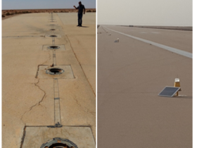 Replacing old runway lights with S4GA solar lighting