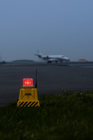 red obstruction lights for airport