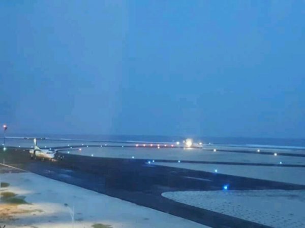 Solar runway lighting Maldives Dhaalu Airport, S4GA