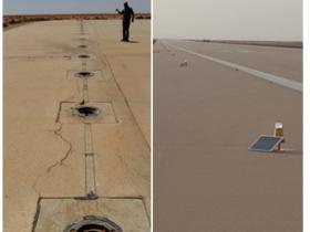 solar runway lights s4ga Libya