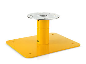 Mounting for asphalt for portable airfield lights