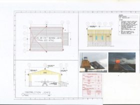Solar obstruction airport light Technical drawing