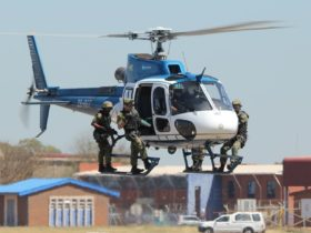 Portable helipad lights for South African Police