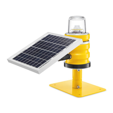 SP-102 Solar obstruction light on frangible mounting