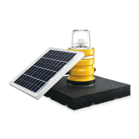 SP-102 Solar obstruction light on rubber pad