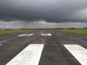 Solar runway lights Europe