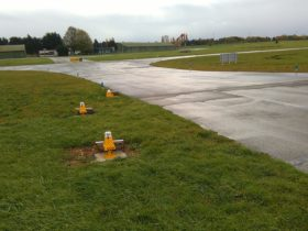 Solar taxiway lights France