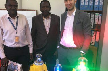 Solar airfield lighting in Kenya