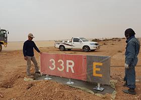 solar runway lighting africa installation