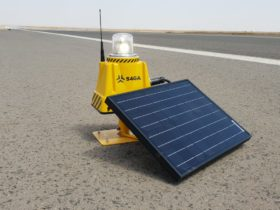 S4GA solar led runway lights Jijiga Airport Ethiopia