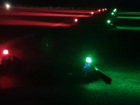 solar runway end threshold lights