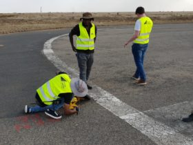 Installation of S4GA solar runway lighting in Ethiopia