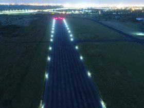 Runway edge lights white