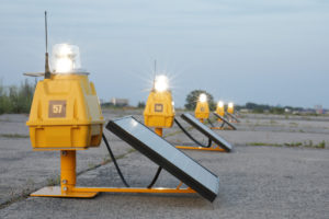 Runway Lighting powered by solar energy