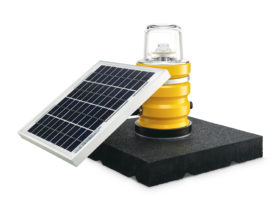 Solar portable airfield lights