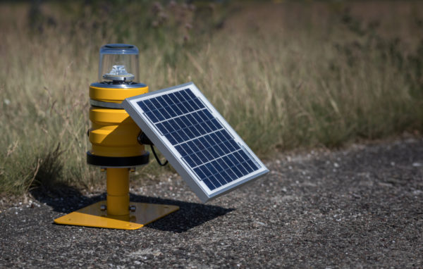 Solar portable airfield light