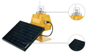 Solar runway light components