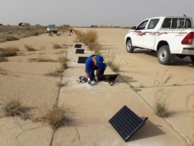 Installation of solar airfield lighting in Africa