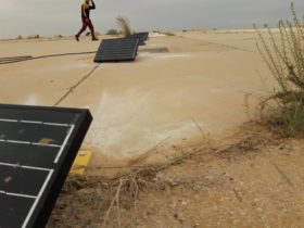 Installation of solar panels at African airport