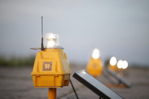 solar airfield lights