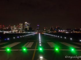 Runway Lights London City Airport