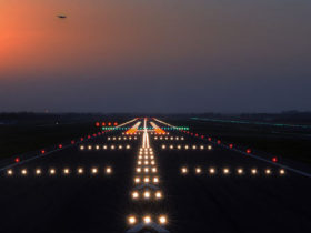 Runway lights precision approach
