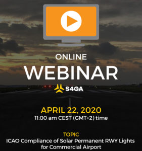 Webinar ICAO Compliance Solar Runway Lights