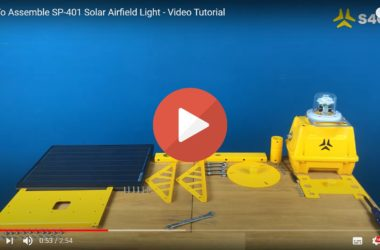 How to assemble SP-401 Solar Airfield Light_Watch Video