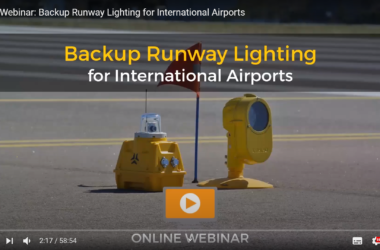 S4GA webinar on Youtube backup runway lighting for international airports
