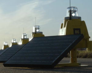 Solar airfield lights for long term operations