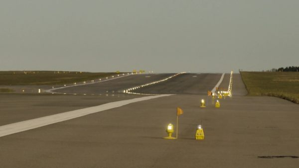 Backup emergency runway lights