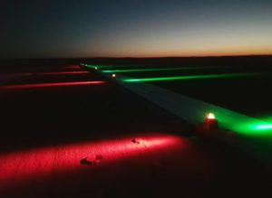S4GA Runway threshold end lights at night