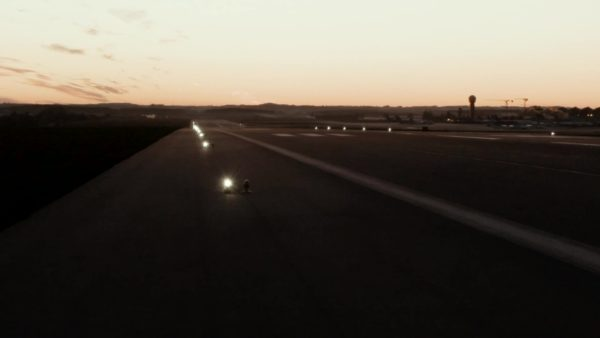 S4GA portable runway lights at night