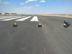 Solar airfield lighting at Regional Airport Uzbekistan