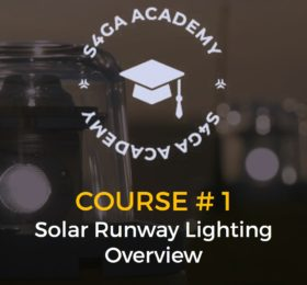 Course 1. Solar runway lighting overview