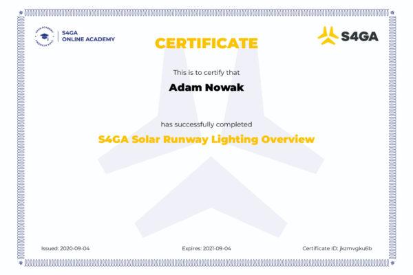 S4GA Certificate Online Academy