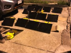 Solar panels for SP-401 airfield lights
