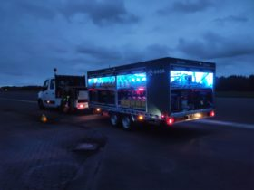 S4GA Portable taxiway lights in a Trailer