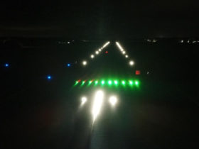 S4GA airfield lightin system at night
