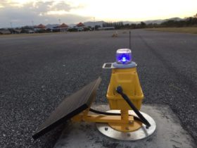 S4GA solar taxiway lights at airport inThailand