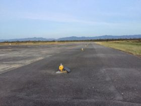 solar airfield lights Phetchabun Airport