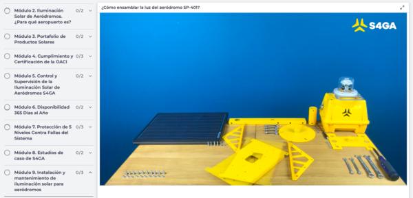 Spanish Online Academy screen